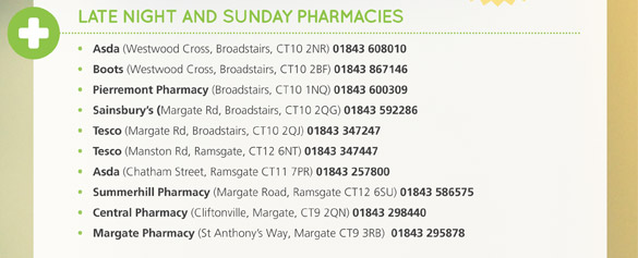 Late Night and Sunday Pharmacies