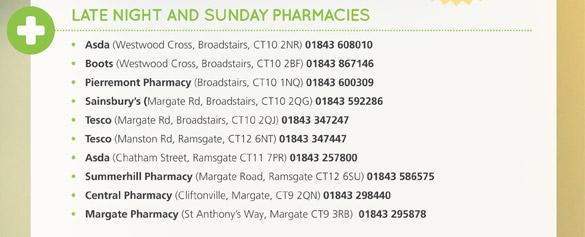 Late Night and Sunday Pharmacies